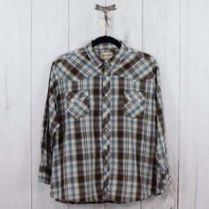 Vintage WRANGLER Plaid Western Snap Shirt Size 3XL